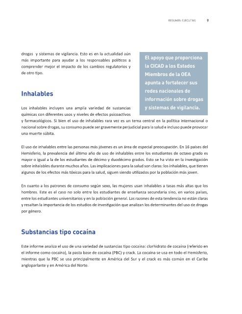 Page 13 Resumen Ejecutivo Informe Sobre El Consumo De Drogas En