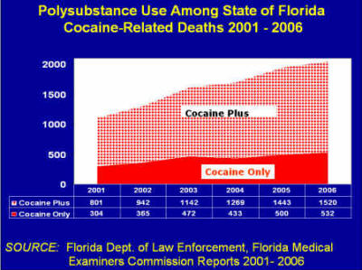 Graphic: polysubstance use among deaths in Florida, 2001-2006